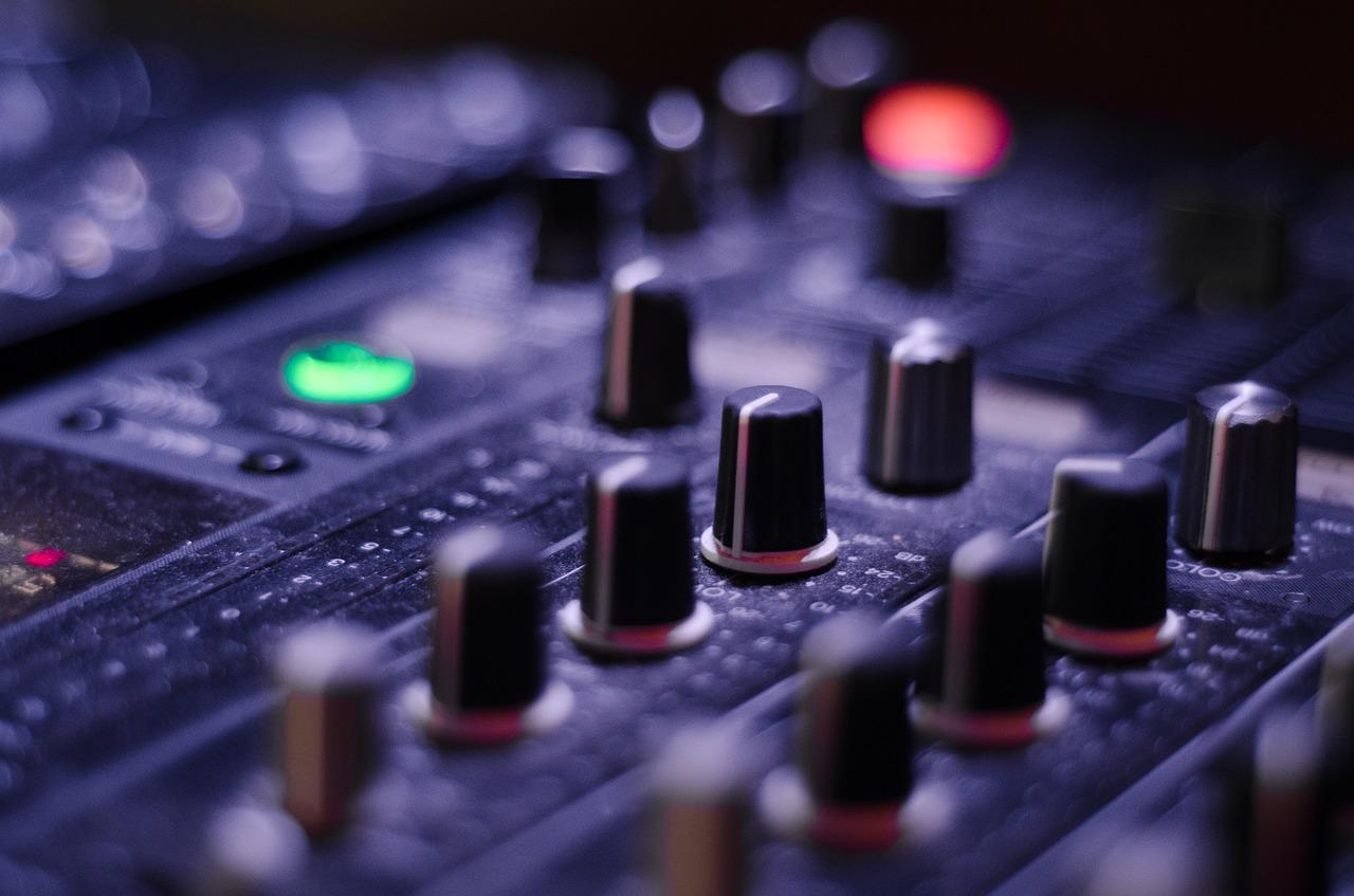 Pokrętła sprzętu audio z eventów