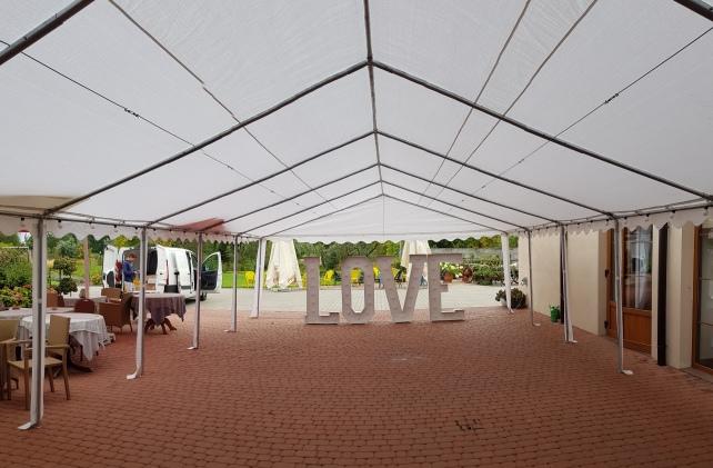 Nasz namiot wynajęty na wesele.